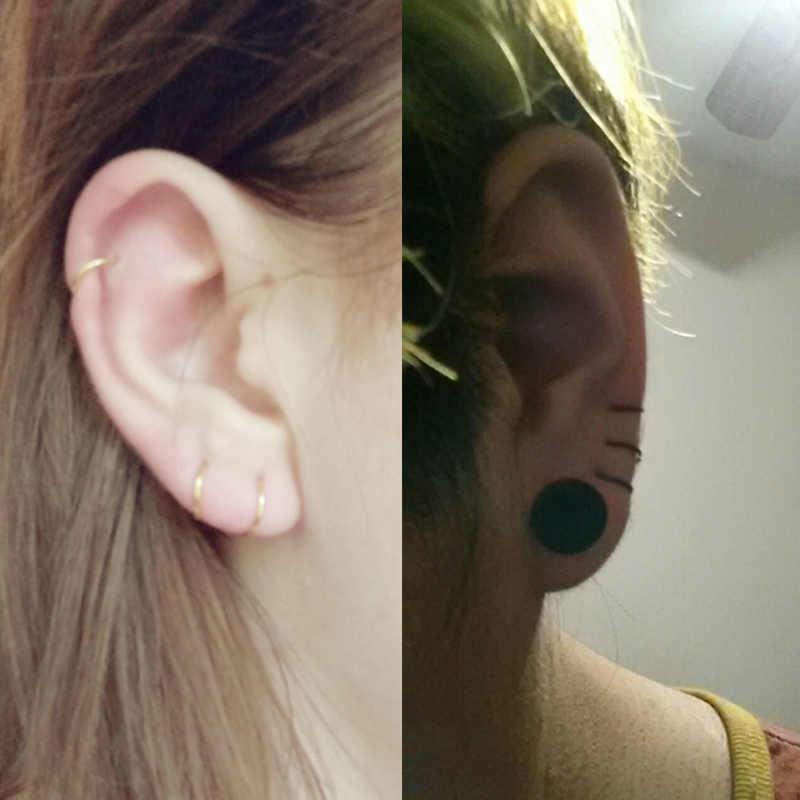 1pc Steel Seamless Hinged Nose Hoop Ring Septum Fake Piercing Jewelry Tongue Ear Helix Industrial Piercing Piercing Jewellery