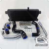 Front Mount Intercooler+Pipe Kit for Audi A4 1.8T Turbo B6 Quattro 02 06 Black / Blue /Red