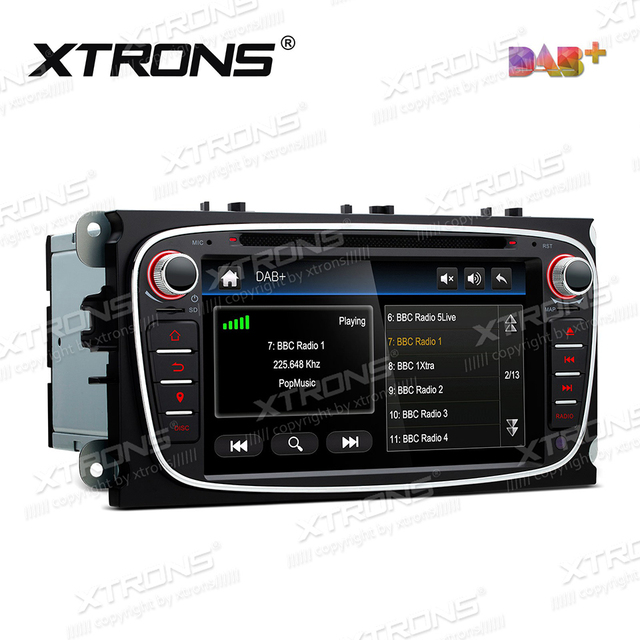 """7"""" DAB+ Car DVD Player GPS Radio For Ford Mondeo Focus C-Max S-Max Galaxy Kuga Auto 2 Din Bluetooth CANBus FM AM SD RDS Stereo"""