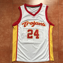 9bfe7c18ca8 New Brian Scalabrine  24 USC Retro White Throwback College Basketball Jersey  All Size Embroidery Stitched