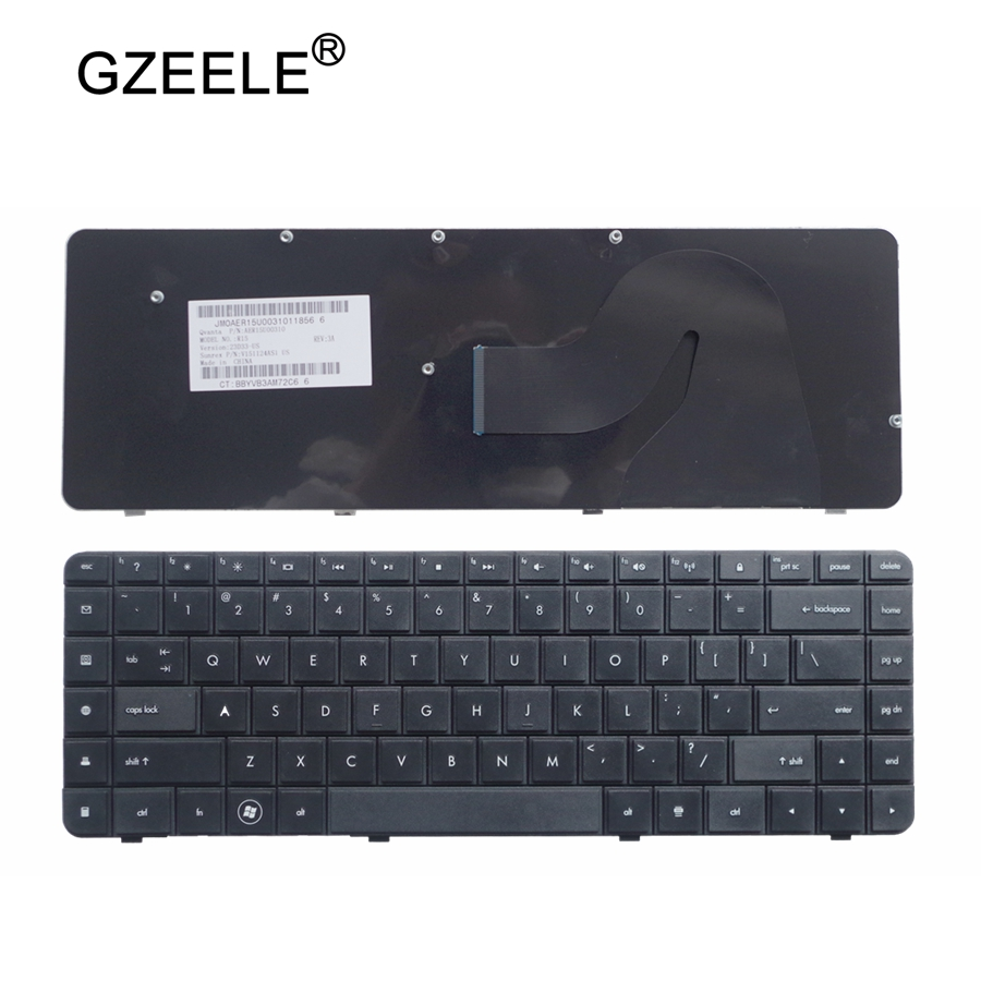 GZEELE Laptop Keyboard FOR HP CQ62 G62 G62-a25eo CQ56 G56 FOR Compaq 56 62 G56 G62 CQ62 CQ56 CQ56-100 US English Black