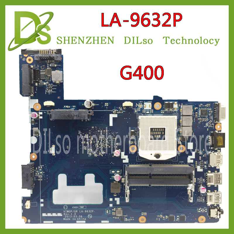 KEFU LA-9632P For Lenovo G400 Notebook laptop motherboard HM76 (support i3 i5 i7 ) motherboard Test