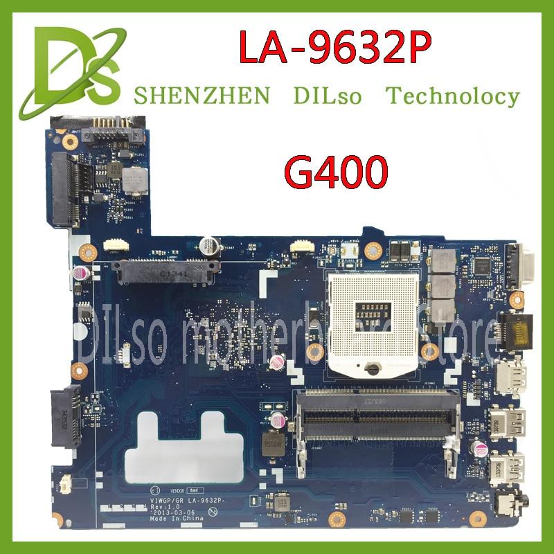 все цены на KEFU LA-9632P For Lenovo G400 Notebook laptop motherboard HM76 (support i3 i5 i7 ) motherboard Test онлайн