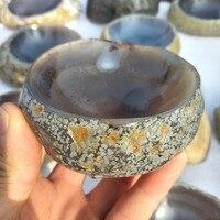 Natural agate crystal ashtray quartz crystal stone bowl