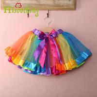 2018 Baby Girl Skirt Kids Rainbow Tutu Skirt Hot Selling Pettiskirt Tutu Custome Party Wedding Dance