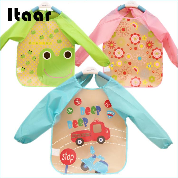 Cartoon Baby Toddler Waterproof Children Kids Feeding Eating Smock Bib Apron