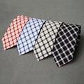 High Quality Ties for Men Wedding 6CM Skinny Cotton Neck Tie Business Plaid & Rainbow Striped Necktie Fresh Colorful Neckwear