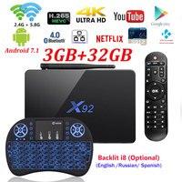 Genuine X92 2GB 16GB Android 6 0 Smart TV Box Amlogic S912 Octa Core CPU