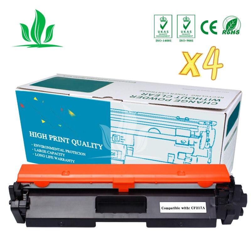 4PCS 17A 17 CF217A Toner Cartridge Compatible for HP LaserJet Pro  M102a/M102w/MFP M130a/M130fw/M130nw/M132a printer