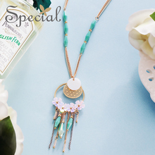 Special Fashion Enamel Flower Maxi Necklace Gold Necklaces & Pendants Vintage Rhinestones Jewelry Gifts for Women S2751N