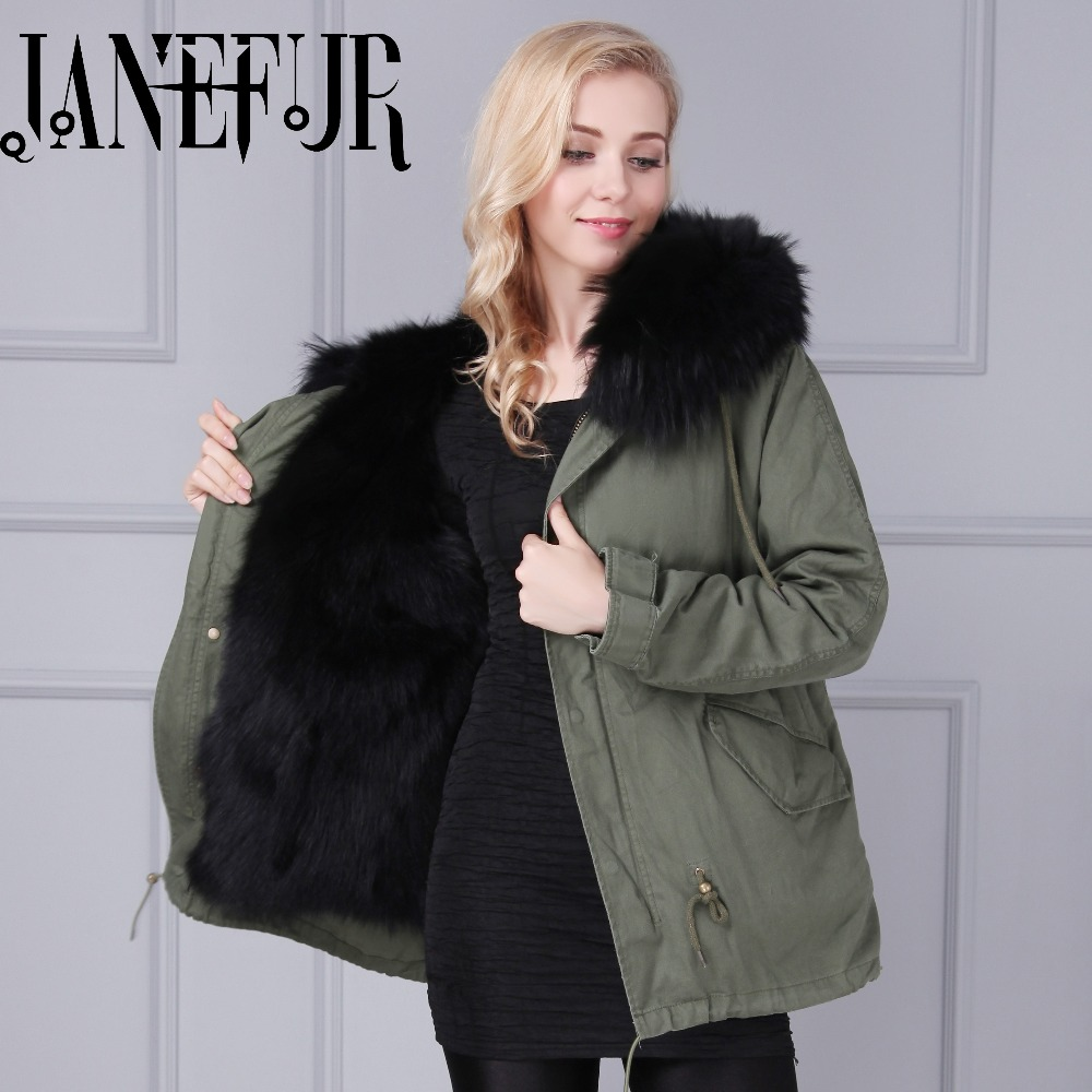 New Arrival winter jacket women elegant natural raccoon fur hood coat long sleeve slim winter parka with fox fur lining 2017 winter new clothes to overcome the coat of women in the long reed rabbit hair fur fur coat fox raccoon fur collar