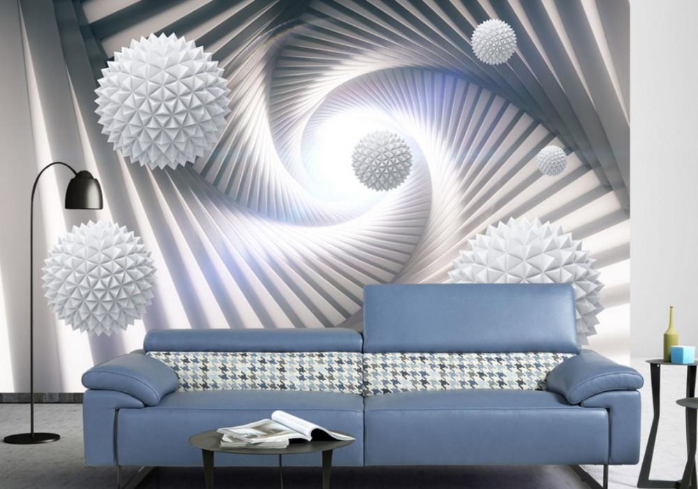 Ball creative 3d wallpaper walls abstract three for 3 dimensional wallpapers 3d