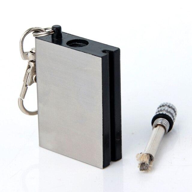 หลายพันครั้งFlint Fire StarterถาวรตรงกันStrikerเครื่องมือพกพาแบบพกพาชุดสำหรับกลางแจ้งไม่มีน้ำมัน