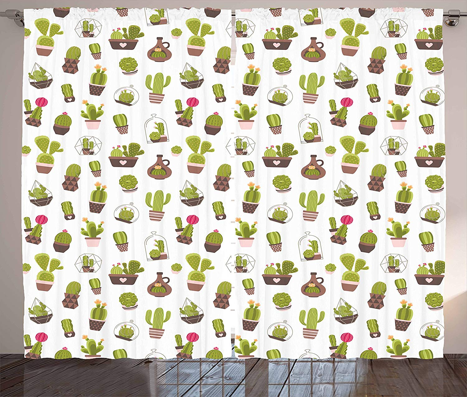 Cactus Curtains Home And Garden Cactus Plants With Flowers Spiny Succulents Arizona Desert Growth Living Room Bedroom Window