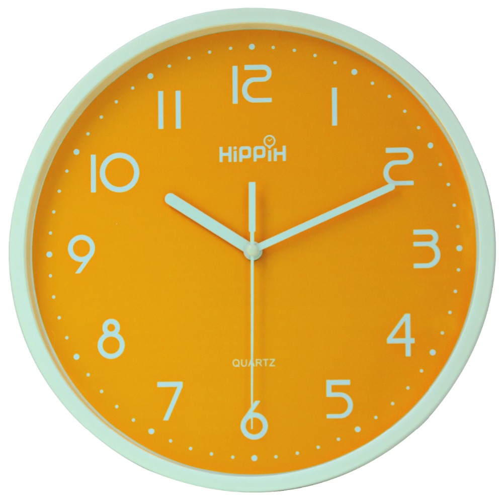 Hippih 10 inches plastic wall clock modern silent clocks new hippih 10 inches plastic wall clock modern silent clocks new arrival saat clock home decoration horloge murale relogio de parede in wall clocks from home amipublicfo Gallery