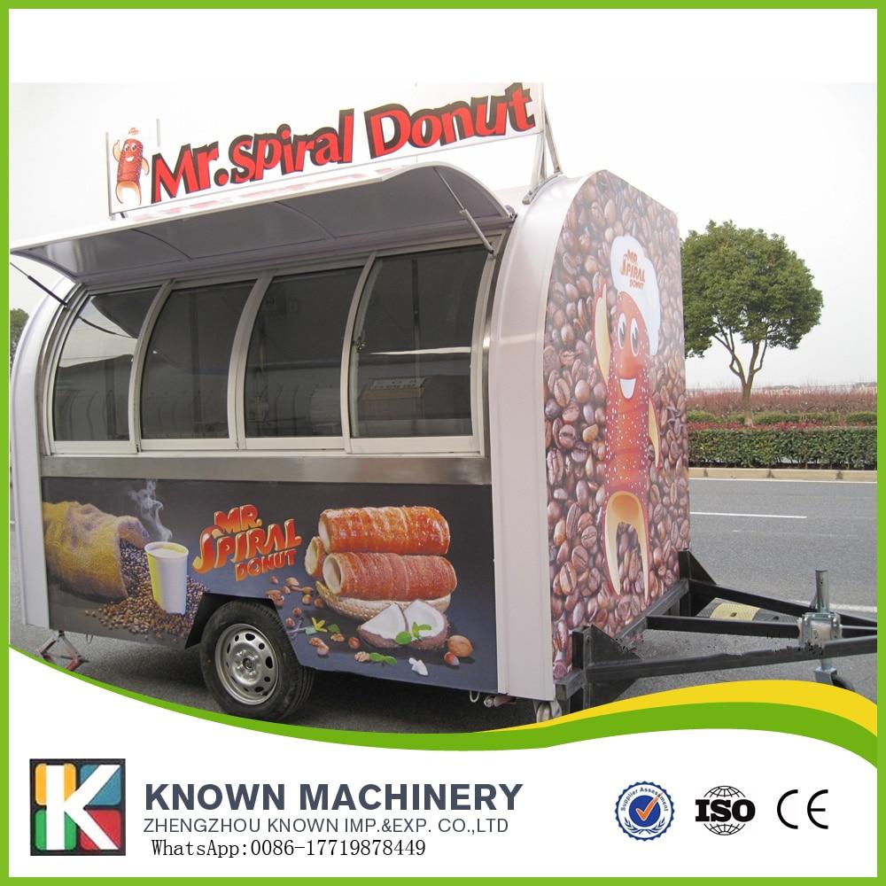 Electric Mobile Food Cart Kiosk Truck Ice Cream Cart