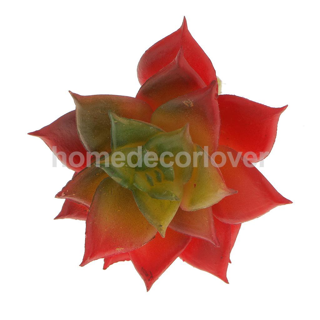Artificial Succulent Real Touch Lotus Flower Grass Plant Decor 7cm