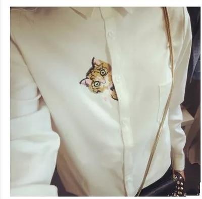 13 Modele Preppy Stili Bluzë e Bardhë Vajzat Pambuku E lezetshme e - Veshje për femra - Foto 3