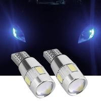 bulb 12v 2/4/6 pieces Car LED Clearance Lights Canbus T10 5630 6SMD Decoding W5W 12V Parking Fog Light Bulb For Car Styling Accessaries (5)