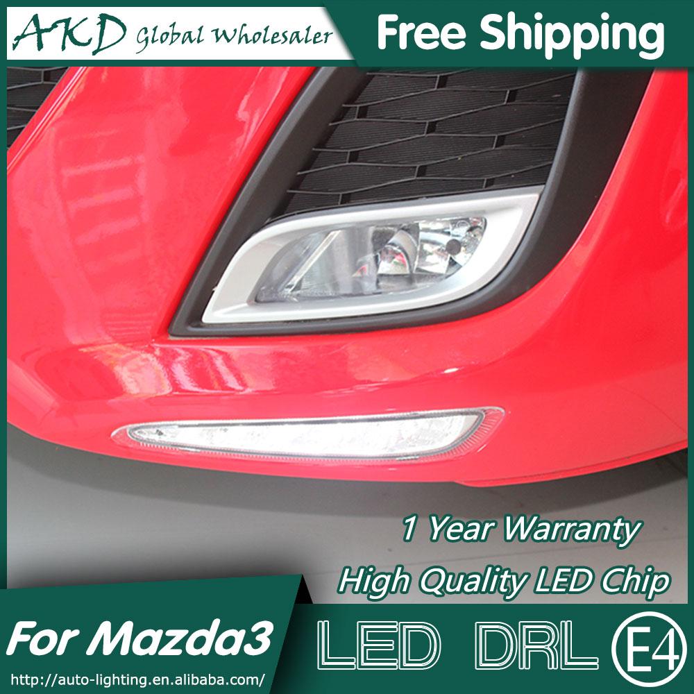 AKD Car Styling for Mazda 3 DRL 2012 Mazda3 LED DRL LED Running Light Fog Light Parking Accessories steinmeyer s162 13 31
