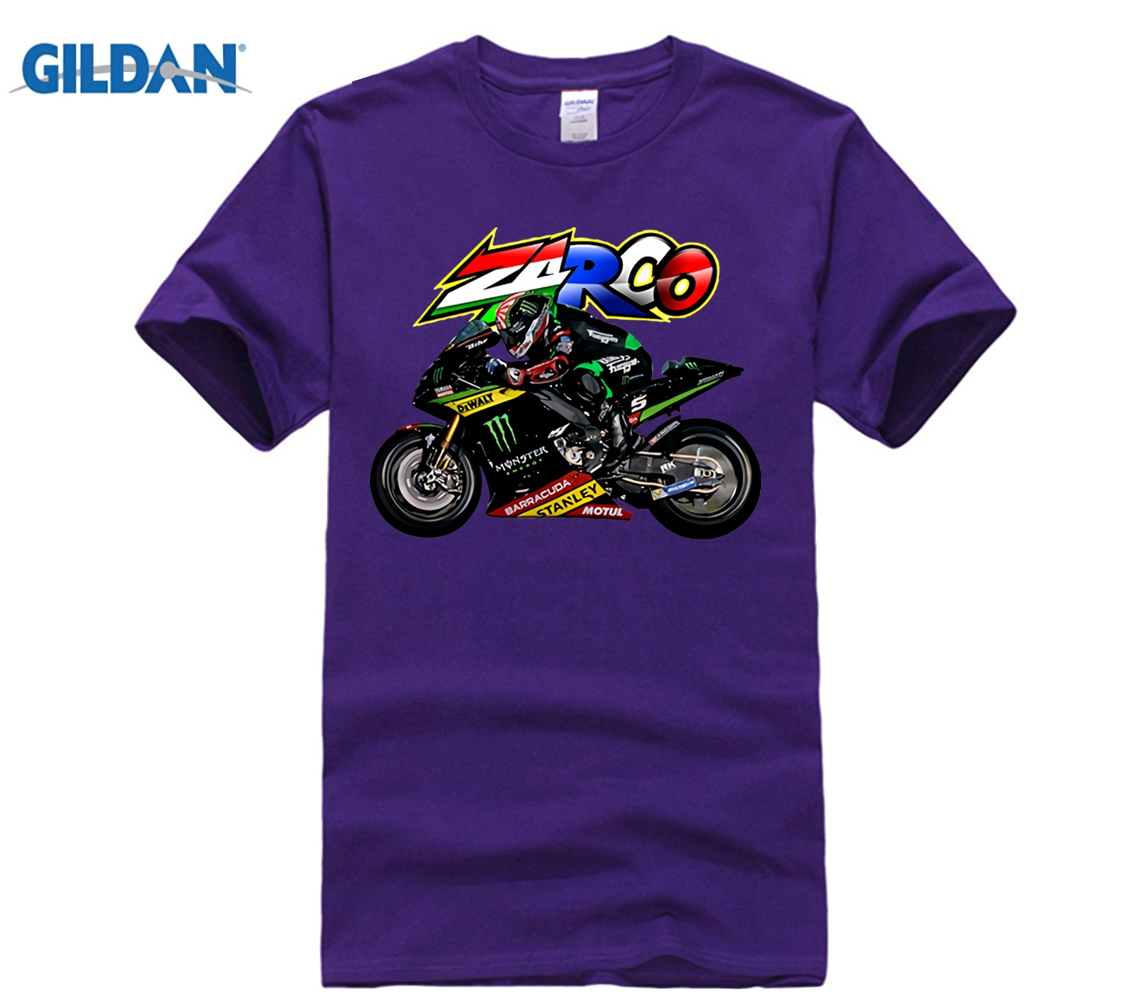 US $7 99 |T Shirt Johann Zarco 5 Moto GP Qatar Doha Test 2019 Adult O  Collar Short Sleeve Cotton Tees T Shirts-in T-Shirts from Men's Clothing on