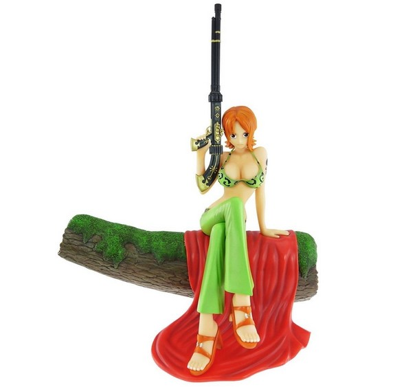 ФОТО Musketeers NaMi Sitting 18cm PVC One Piece Two Years Later Anime Figure Doll Collection Decoration Model