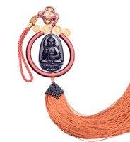 Natural Car Obsidian Avalokitesvara Eight Guardian Twelve Zodiac Natal Buddha Mascot Amulet Lucky Car Hanging Ornaments