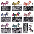 New Arrival 10 Sheets/Set Born Pretty Japanese Series L002-L011 Nail Art Stamping Template Rectangle 12*6cm Image Plate