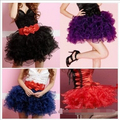 New Women Lady's Corset Tutu Skirt Adult Petticoat Fit Burlesque Skirt