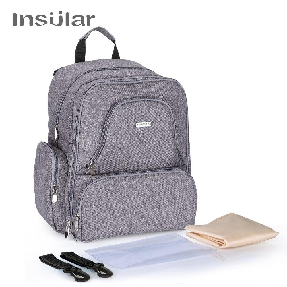 Островная бренд multifuntion детские пеленки рюкзак мумия сумка для Водонепроницаемый Подгузники детские рюкзак моды Детские коляски сумка