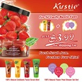 Kustie FACEBOOK Fans Free Gifts Fruit Facial Scrubs (40ml)*2 Plus Floral Shower Gel Capsules (8ml)*2
