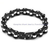 8 26 21cm 11mm 70g 316L Stainless Steel Black Silver Pure Handmade Bike Chain Men S