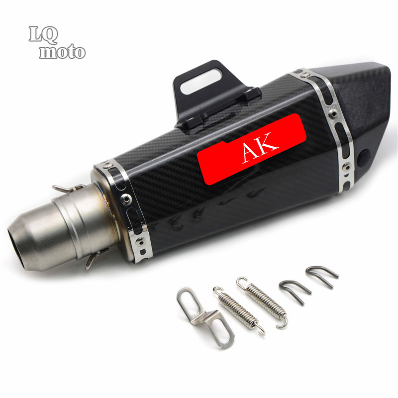 Universal Motorcycle  Modified Exhaust pipe For Yamaha YZF R125 YZF R15 YZF R25 YZF R3 MT-02 MT-25 YZF R1/R1M MT-01 dirt bike racing motorcycle exhaust pipe middle muffler exhaust pipe for yamaha yzf r1 yzf r1 2009 2010 2011 2012 2013 2014