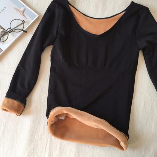 New Winter Women Solid Warm Thick Thermal Underwear Plus Velvet Solid Camis Female Slim Sexy Thermal Underwear Tops Hot DC794(China)