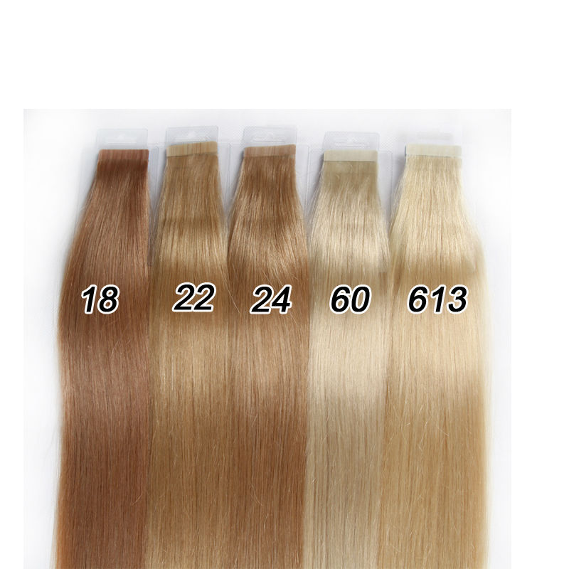 18 22 24 60 613 Colors 8a Blonde Tape In Human Hair Extensions