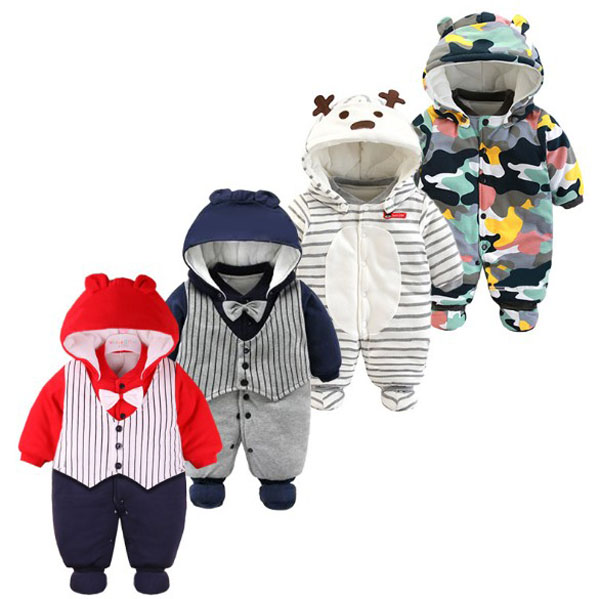 f591e2337b6 US $18.03 8% OFF|Baby jumpsuit Thick cotton padded clothes winter  children's Camouflage climb clothes 3 12M-in Footies from Mother & Kids on  ...