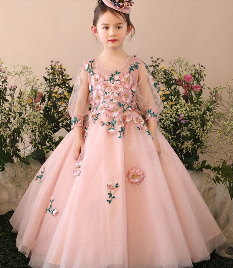 Retail Girls Princess Dresses 2017 New Embroidery Flower Children Piano Performance Dress Performance For Wedding Party LF196 точилка index ish001 пластик ассорти