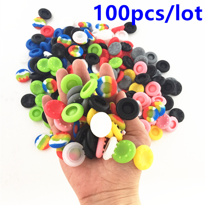 100pcs PS4 Silicone Cap Thumbstick Thumb Stick Guards Cover Case Skin Joystick Grip For PS4 Xbox One 360 Controller PS4 Pro Slim