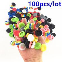 100pcs Rubber Silicone Cap Thumbstick Thumb Stick Cover Case Skin Joystick Grip Grips For PS4 PS3 Xbox one Xbox 360 Controller commonbyte for xbox 360 controller silicone gel case skin 2pc unlock opening tools t8