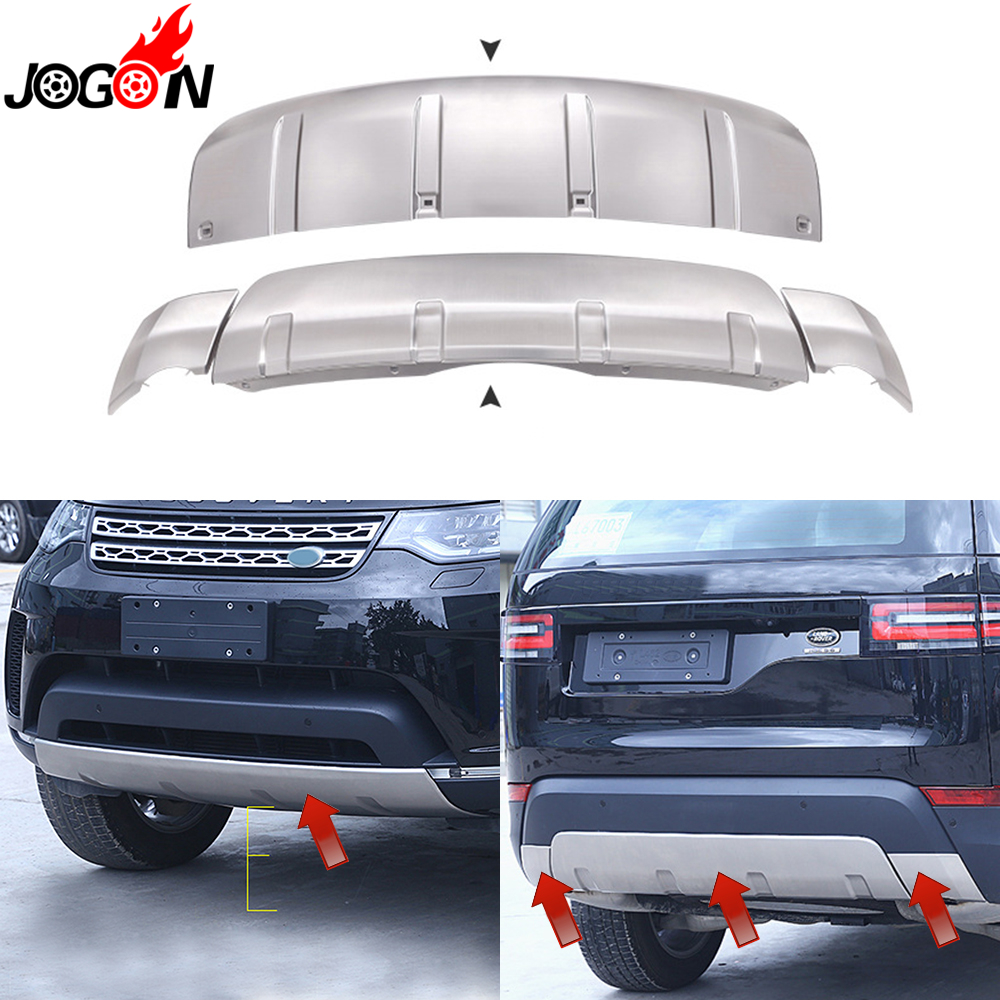 Front & Rear Trunk Exterior Bumper Guard Skid Plate Cover