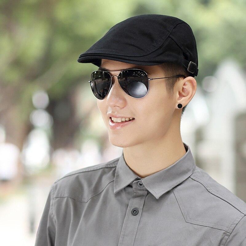 Mannelijke zomer solide krantenverkoper Caps heren Casual klimop hoed - Kledingaccessoires - Foto 3