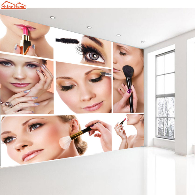 ShineHome Beauty Cosmetic SPA Salon Makeup WallPapers For Store Wallpaper 3d Livingroom 3 D