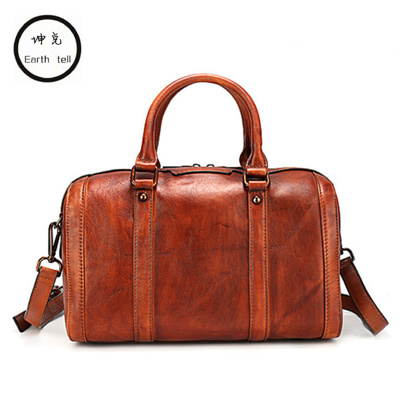New Arrival Genuine Cow Leather Bags Women Vintage Pillow Handbag Ladies Solid Casual Small Crossbody Wipe color Shoulder Bag new arrival vintage women handbag genuine leather purse female small bag messenger crossbody bag hand painted women shoulder bag