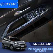 QCBXYYXH Car Styling Interior Door Window Lift Switch Panel Cover For Peugeot 3008 2017 2018 ABS Trim Decoration Accessories