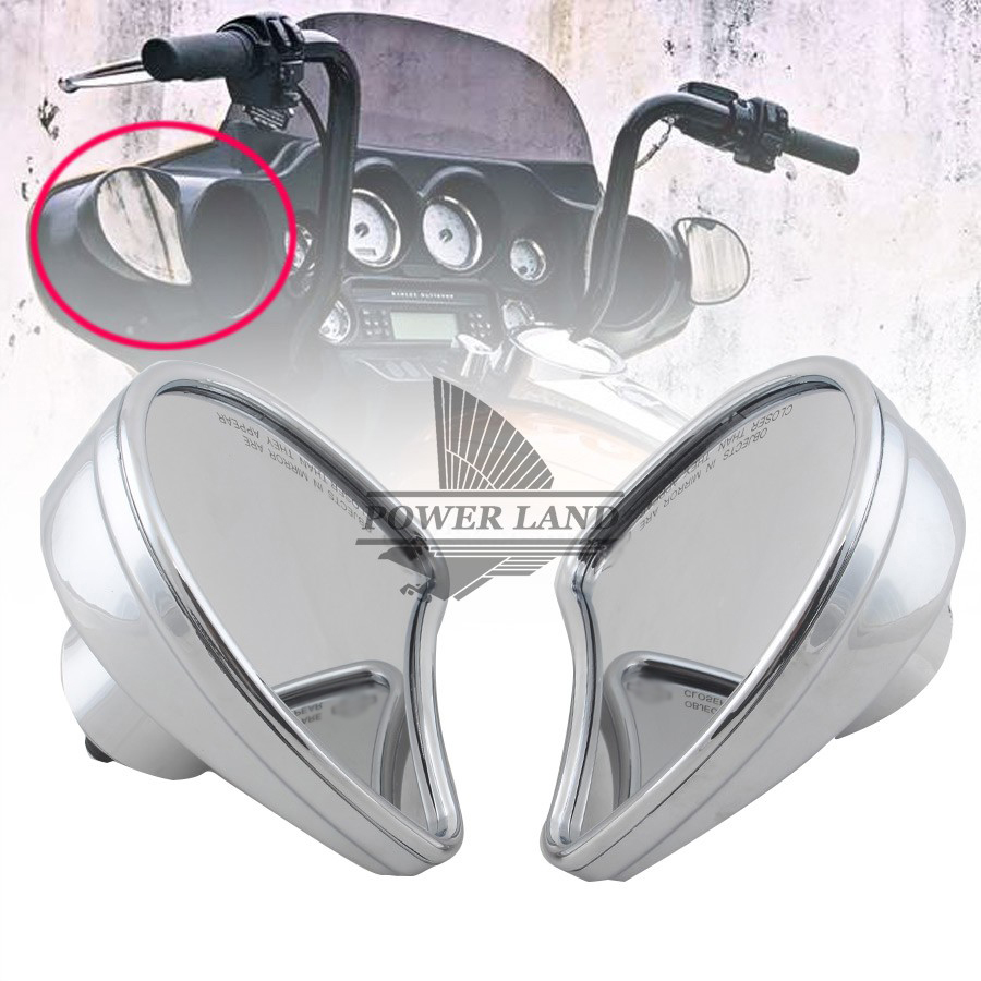 Chrome Skull Rearview Mirrors For Harley Electra Glide Ultra Classic FLHTCU