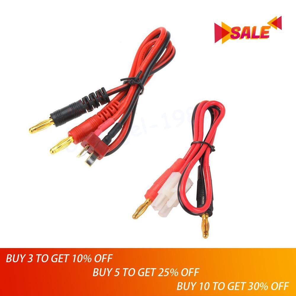 1pcs RC Connector Cable T Plug Deans Connector To Banana Tamiya Plug To Banana For IMAX B6 B6AC B8 Chargers