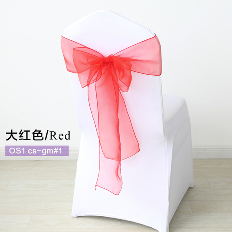 150Pcs set High Quality Organza Fabric Wedding Chair Knot Cover Chairs Sashes Bow Band Belt Ties