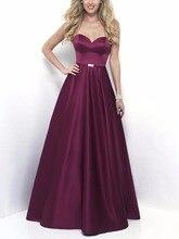 Neueste Designs PurpleFormal Abendkleider Kleider Plus Größe Schatz Günstige Abendkleid Lang vestidos de festa abendkleider 2017