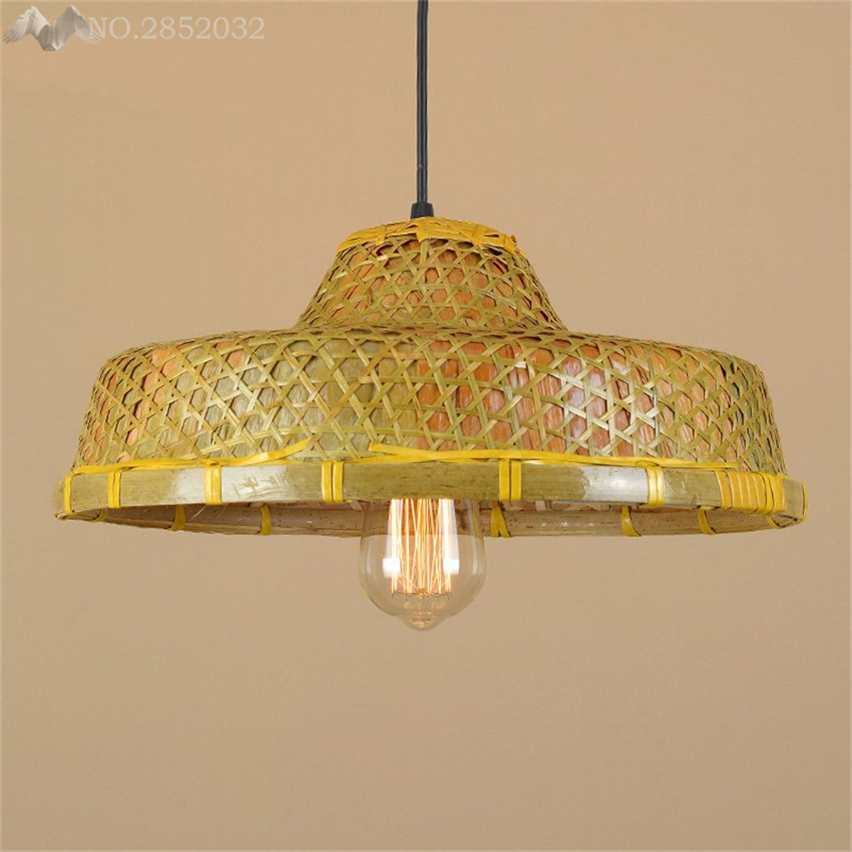 Jw southeast asian hand made straw hat pendant lamp bamboo pendant jw southeast asian hand made straw hat pendant lamp bamboo pendant light for living room restaurant cafe home lighting fixtures in pendant lights from aloadofball Images