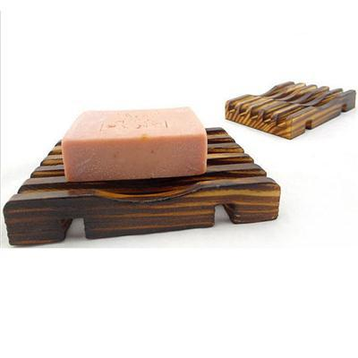 2015 New Convenient Shower Wash Bathroom Accessories 10*8cm Natural Wood  Soap Tray Holder Dish